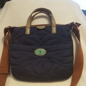 Fossil quilted tote crossbody